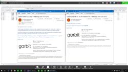 Mahnung über E-Mail mit PDF und Passwortschutz
