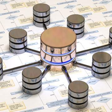 symbolische Darstellung der Datenbankvernetzung
