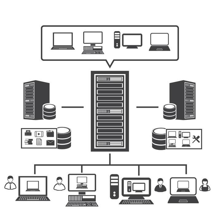 schematische Darstellung einer Virtualisierung